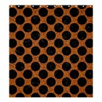 CIRCLES2 BLACK MARBLE & RUSTED METAL Shower Curtain 66  x 72  (Large)