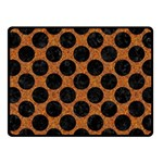 CIRCLES2 BLACK MARBLE & RUSTED METAL Fleece Blanket (Small) 50 x40 Blanket Front