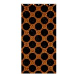 CIRCLES2 BLACK MARBLE & RUSTED METAL Shower Curtain 36  x 72  (Stall)