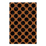 CIRCLES2 BLACK MARBLE & RUSTED METAL Shower Curtain 48  x 72  (Small)