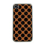 CIRCLES2 BLACK MARBLE & RUSTED METAL Apple iPhone 4 Case (Clear) Front