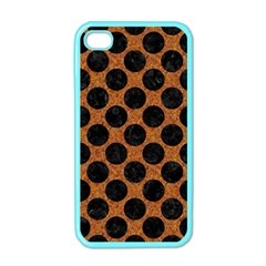 Circles2 Black Marble & Rusted Metal Apple Iphone 4 Case (color) by trendistuff
