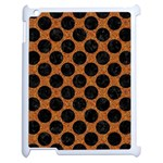 CIRCLES2 BLACK MARBLE & RUSTED METAL Apple iPad 2 Case (White)