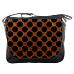 CIRCLES2 BLACK MARBLE & RUSTED METAL Messenger Bags