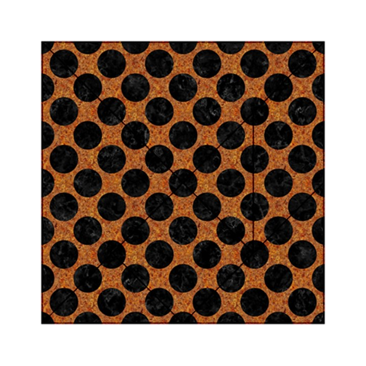 CIRCLES2 BLACK MARBLE & RUSTED METAL Acrylic Tangram Puzzle (6  x 6 )