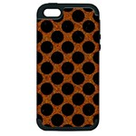 CIRCLES2 BLACK MARBLE & RUSTED METAL Apple iPhone 5 Hardshell Case (PC+Silicone)