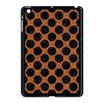 CIRCLES2 BLACK MARBLE & RUSTED METAL Apple iPad Mini Case (Black) Front