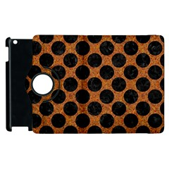 Circles2 Black Marble & Rusted Metal Apple Ipad 3/4 Flip 360 Case