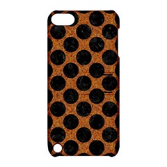 Circles2 Black Marble & Rusted Metal Apple Ipod Touch 5 Hardshell Case With Stand