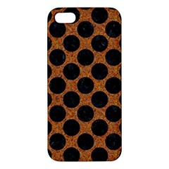 Circles2 Black Marble & Rusted Metal Apple Iphone 5 Premium Hardshell Case by trendistuff