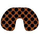 CIRCLES2 BLACK MARBLE & RUSTED METAL Travel Neck Pillows
