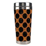 CIRCLES2 BLACK MARBLE & RUSTED METAL Stainless Steel Travel Tumblers