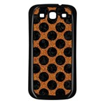 CIRCLES2 BLACK MARBLE & RUSTED METAL Samsung Galaxy S3 Back Case (Black)
