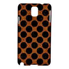 Circles2 Black Marble & Rusted Metal Samsung Galaxy Note 3 N9005 Hardshell Case by trendistuff