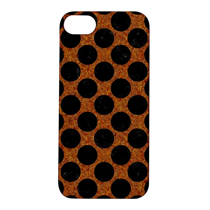 CIRCLES2 BLACK MARBLE & RUSTED METAL Apple iPhone 5S/ SE Hardshell Case