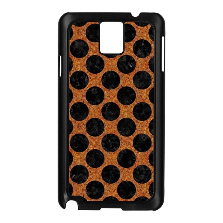 CIRCLES2 BLACK MARBLE & RUSTED METAL Samsung Galaxy Note 3 N9005 Case (Black)