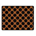 CIRCLES2 BLACK MARBLE & RUSTED METAL Double Sided Fleece Blanket (Small)
