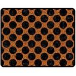 CIRCLES2 BLACK MARBLE & RUSTED METAL Double Sided Fleece Blanket (Medium)  58.8 x47.4 Blanket Back