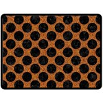 CIRCLES2 BLACK MARBLE & RUSTED METAL Double Sided Fleece Blanket (Large)