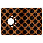 CIRCLES2 BLACK MARBLE & RUSTED METAL Kindle Fire HDX Flip 360 Case