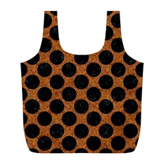 Circles2 Black Marble & Rusted Metal Full Print Recycle Bags (l)  by trendistuff