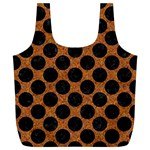 CIRCLES2 BLACK MARBLE & RUSTED METAL Full Print Recycle Bags (L)