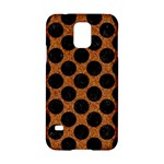 CIRCLES2 BLACK MARBLE & RUSTED METAL Samsung Galaxy S5 Hardshell Case