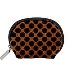 CIRCLES2 BLACK MARBLE & RUSTED METAL Accessory Pouches (Small)