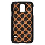 CIRCLES2 BLACK MARBLE & RUSTED METAL Samsung Galaxy S5 Case (Black)