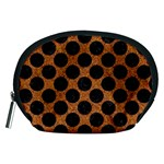 CIRCLES2 BLACK MARBLE & RUSTED METAL Accessory Pouches (Medium)