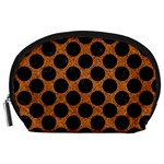 CIRCLES2 BLACK MARBLE & RUSTED METAL Accessory Pouches (Large)