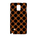 CIRCLES2 BLACK MARBLE & RUSTED METAL Samsung Galaxy Note 4 Hardshell Case
