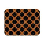 CIRCLES2 BLACK MARBLE & RUSTED METAL Double Sided Flano Blanket (Mini)  35 x27 Blanket Front