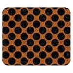 CIRCLES2 BLACK MARBLE & RUSTED METAL Double Sided Flano Blanket (Small)