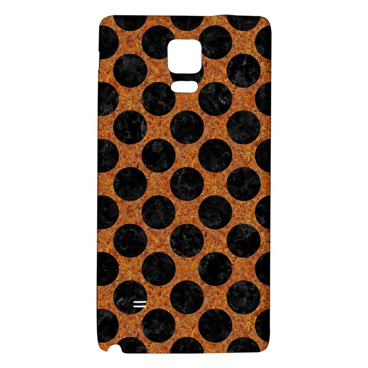 CIRCLES2 BLACK MARBLE & RUSTED METAL Galaxy Note 4 Back Case