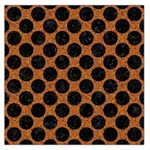 CIRCLES2 BLACK MARBLE & RUSTED METAL Large Satin Scarf (Square)
