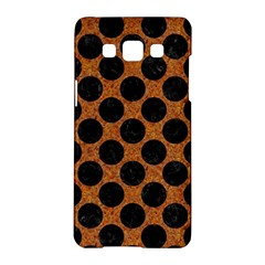 Circles2 Black Marble & Rusted Metal Samsung Galaxy A5 Hardshell Case  by trendistuff