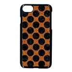 CIRCLES2 BLACK MARBLE & RUSTED METAL Apple iPhone 7 Seamless Case (Black)