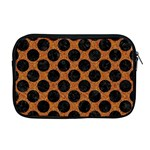 CIRCLES2 BLACK MARBLE & RUSTED METAL Apple MacBook Pro 17  Zipper Case