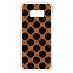 Circles2 Black Marble & Rusted Metal Samsung Galaxy S8 Plus White Seamless Case