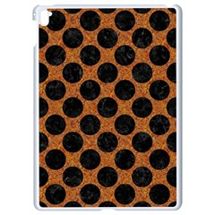 Circles2 Black Marble & Rusted Metal Apple Ipad Pro 9 7   White Seamless Case by trendistuff