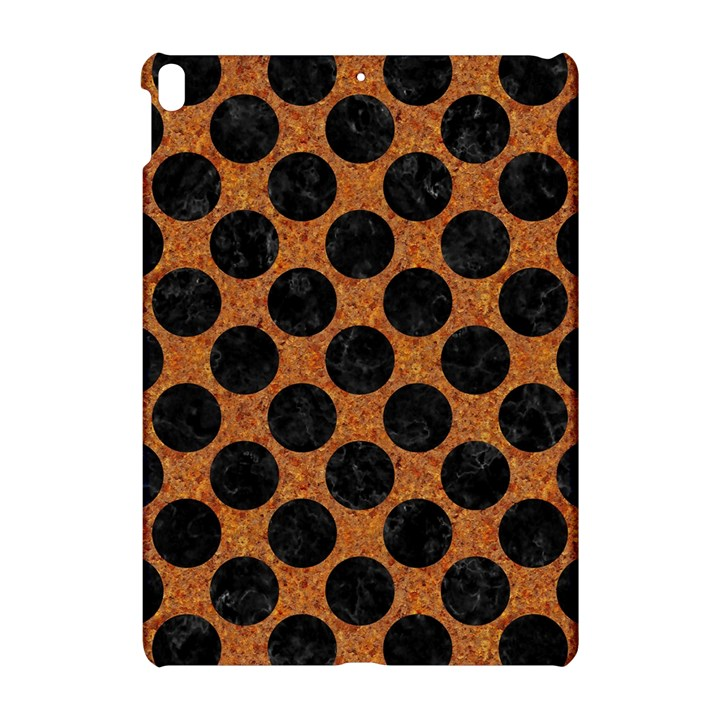 CIRCLES2 BLACK MARBLE & RUSTED METAL Apple iPad Pro 10.5   Hardshell Case
