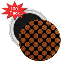 Circles2 Black Marble & Rusted Metal (r) 2 25  Magnets (100 Pack)  by trendistuff