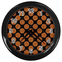 Circles2 Black Marble & Rusted Metal (r) Wall Clocks (black) by trendistuff