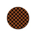 CIRCLES2 BLACK MARBLE & RUSTED METAL (R) Rubber Coaster (Round)