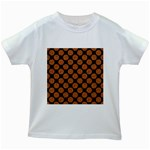 CIRCLES2 BLACK MARBLE & RUSTED METAL (R) Kids White T-Shirts