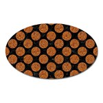 CIRCLES2 BLACK MARBLE & RUSTED METAL (R) Oval Magnet