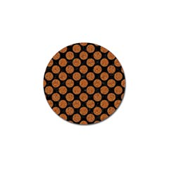 Circles2 Black Marble & Rusted Metal (r) Golf Ball Marker