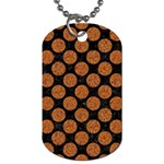 CIRCLES2 BLACK MARBLE & RUSTED METAL (R) Dog Tag (Two Sides)