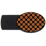 CIRCLES2 BLACK MARBLE & RUSTED METAL (R) USB Flash Drive Oval (2 GB)